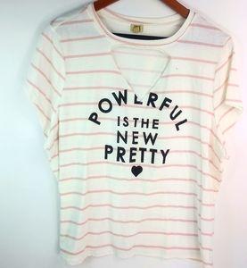 Powerful Is The New Pretty Stripe Top 2X Plus